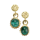 Gold Granulated Tourmaline Earrings